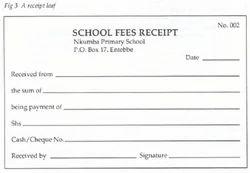 Fee Receipt Book