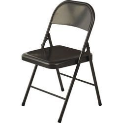Black CR Sheet Folding Waiting Chair, Size: 380x400x900 Mm