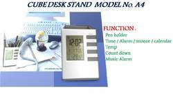 LCD Table Clock with Pen Holder
