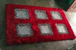 Polyester Plain Hand Made Shaggy Carpet