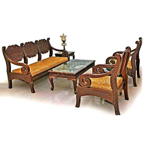 Wood 5 Seater Designer Sofa Set Rs 125000 Set Heritage India Id