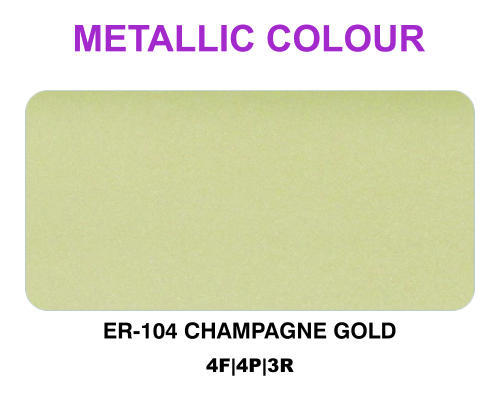 Champagne Gold Metallic Colour Acp