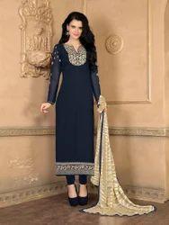 Navy Blue Georgette Salwar Suit