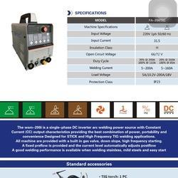 Inverter Based DC Pulse TIG 200A Welding Machine