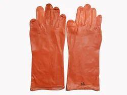 14 PM Orange Rubber Hand Gloves