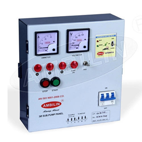 Submersible Pump Panel 3 Phase Submersible Pump Control Panel Manufacturer From Ahmedabad