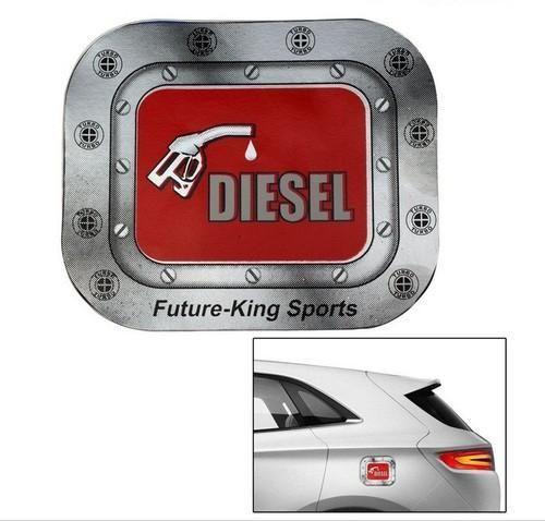 Speedwav Car Fuel Lid Vinyl Diesel Sticker Red Square Nissan Sunny