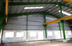 MS and SS Prefabricated Industrial Shed