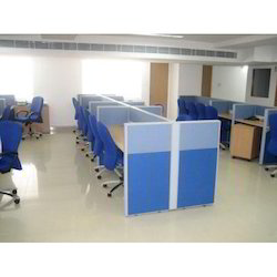 Wood Office Aluminum Frame Modular Furniture