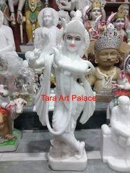 Pure White Marble Krishna Statue Murti