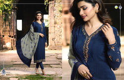 Vinay Silkina 18 Crape Designer Suits