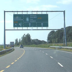 Gantry Road Sign