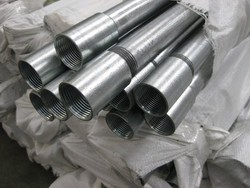 Round And Square Galvanized Conduit Pipes, Size: 1/2