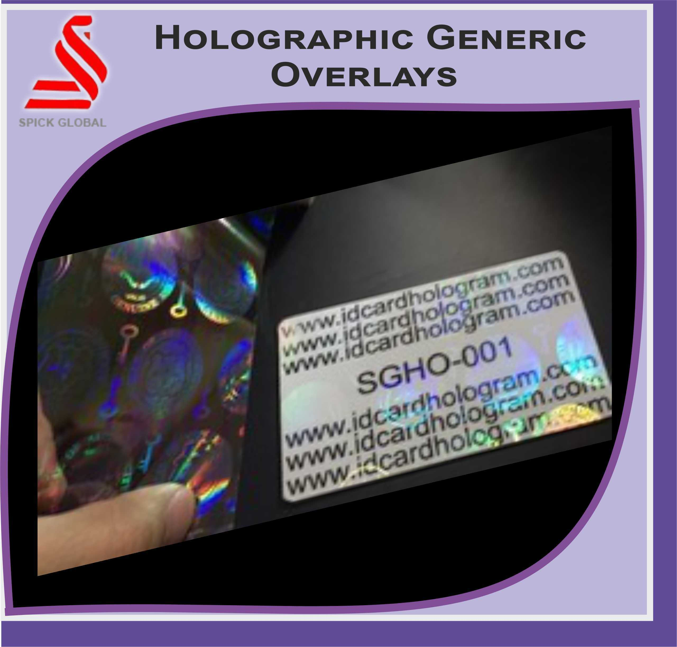 1 x Adhesive Holographic Overlay for Standard Size ID CardsSecure Globe Desig