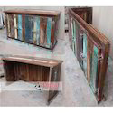 Natural Jangid Art & Crafts Reclaimed Wooden Catering Folding Counter, Size: 145x60x75 Cms