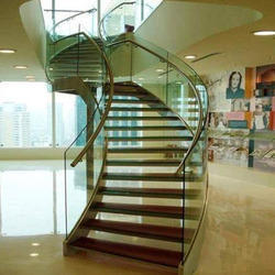 Curve Full Glass Stairs