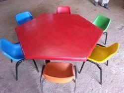 FRP Nursery Chair Table