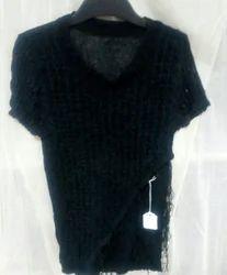 Black Fancy Woolen Top