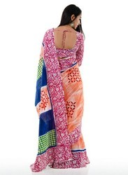 Ladies Cotton Block Printed Sarees, Length: 6.3 m