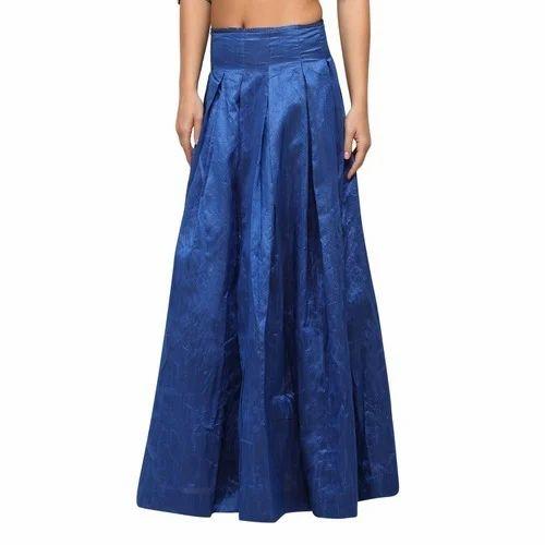 a7e0098a276 Blue Silk Maxi Skirt at Rs 1200  piece
