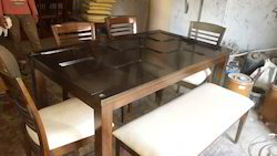 Dining Chair Table with Glass And Bench