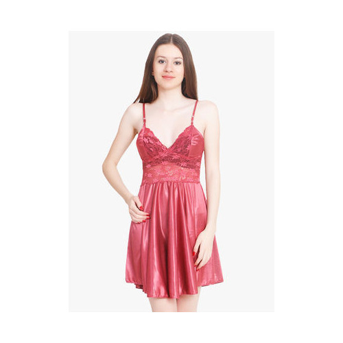 9536f53889 Women Nightwear - Women Red Satin Baby Doll Dresses Nighty Manufacturer  from Delhi