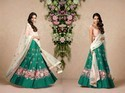 Fabzone Designer Raw Silk Multi Color Resham Thread Embroidery Lehenga