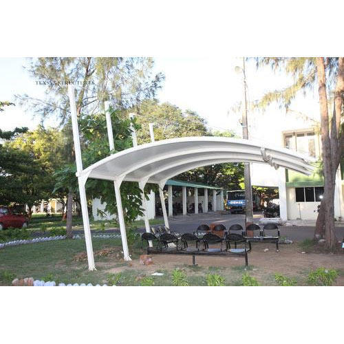 Car Parking With Fabric Structure Car Park Cantilever