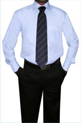 Black & White Cotton Formal Wear Paint With Shirts