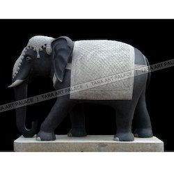 Elephant Animals Marble Statue