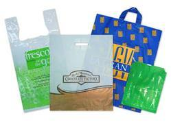 Plastic Shopping Bags, Size: Customizable