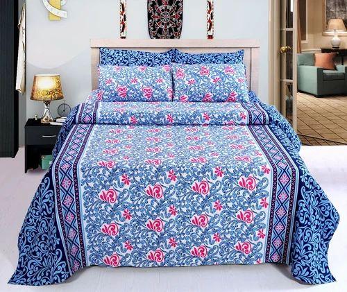 Atlas Flower Designs Printer Polyester Bed Sheets