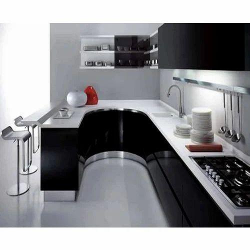 Designer Modular Kitchen At Rs 360 Square Feet: Laminated Modular Kitchen At Rs 40000 /square Feet