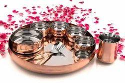 Copper Maharaja Thali Set