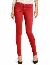 Ladies Red Skinny Jeans - Xtellar Jeans