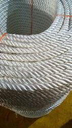 8 mm White Polyester Rope