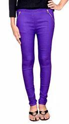 Purple Zipper Jeggings