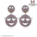 Pave Diamond Earring Jewelry