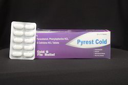 Paracetamol Phenylepherine & Cetirizine Tablets