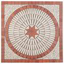 Elegant Flooring Red White Stone Mosaic Tiles, Thickness: 6 - 8 Mm