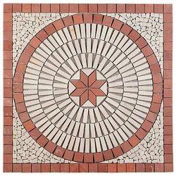 Red White Stone Mosaic Tiles