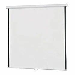 White Projector Wall Screen, 4:3, 4 X 4 Feet