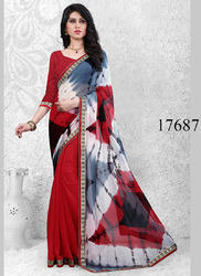 Half Printed Saree