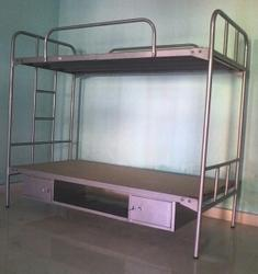 Steel Bunk Bed With Bottom Storage At