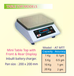 Mini Table Top Scale with Front & Rear Display