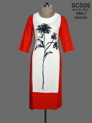 Ladies Fancy Rayon Printed Kurti