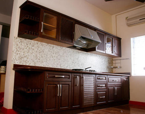 Rubber Wood Kitchen, Modular Kitchen | Kallikuppam, Chennai | Ikon ...