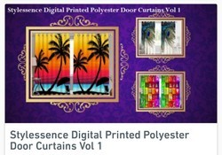 Classic Polyester Door Digital Printed Curtains Pack Of 2