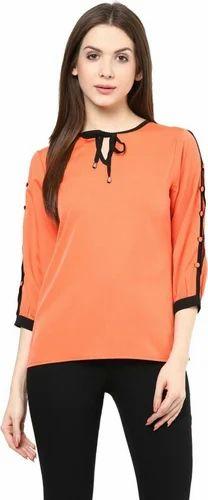 393c4751917 Hosiery Polo Neck Designing Ladies Tops