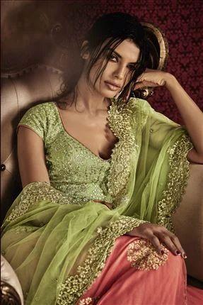 bd20ab8b0e046 sarees - Light Green-peach Net Heavy Sarees Wholesale Trader from Surat